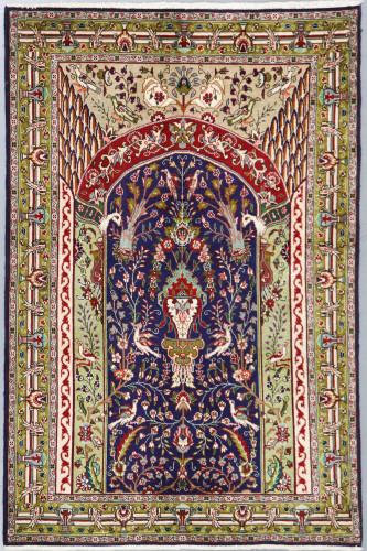 Qum Fine Vintage Persian Rug (Ref 262) 145x93cm