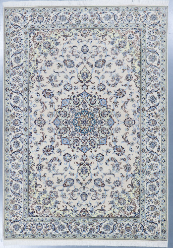 Nain Fine Wool & Silk Inlay 9la Persian Rug (Ref 11a) 285x200cm