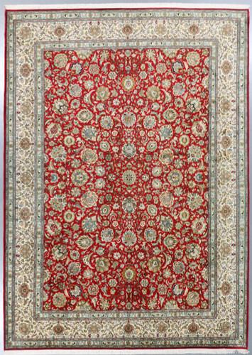 Kashmir Pure Silk Rug (Ref 85949) 349x249cm