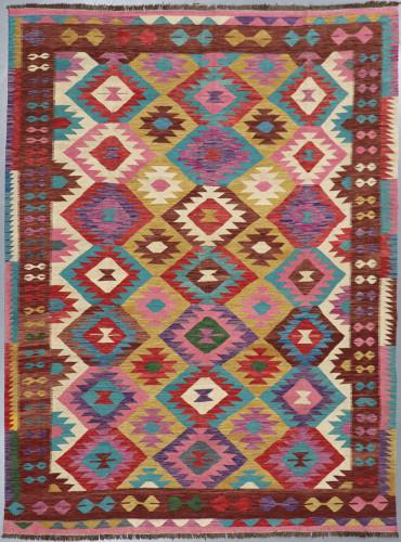 Veg Dye Afghan Kilim Fine (Ref 494) 343x255cm