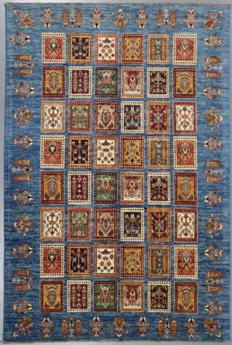 Chobi Ferehan Afghan Panel Design Veg  Dye Rug (Ref 104) 256x175cm