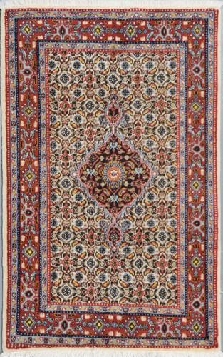 Birjand Fine Vintage Silk Inlay Persian Rug (Ref 490) 120x78cm