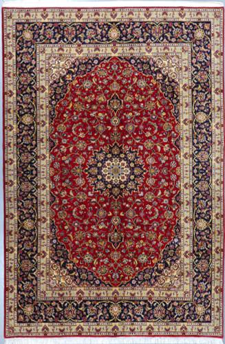 Kashan Fine Vintage Kork wool  Persian Rug (Ref 708) 305x205cm