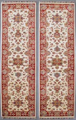 Matching Pair of Chobi Farahan Veggie Dye Runners  300x82cm Each