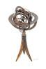 Brass Armillary Sphere Buffalo Horn Stand Globe