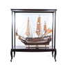 Wooden Display Case Cabinet Stand Ship Models