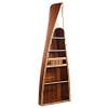 Canoe Bookcase Book Shelf Cedar Wood Strip