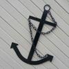 Black Navy Ships Metal Anchor Nautical Decor USA