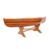 Canoe Coffee Table Glass Top Wood Built