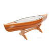 Canoe Coffee Table Glass Top Cedar Strip