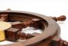 Rosewood Ships Wheel Wall Decor Nautical Art