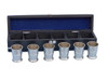 Anchor Shot Glasses Brushed Nickel Set of 6 Black Case