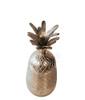 Large Pineapple Silver Figurine Sculpture Accessory Home Decor