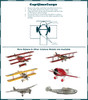 Instructions WWI Sopwith Camel British Biplane Model