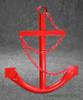Red Ships Anchor Metal Wall Yard Decor