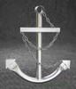 Silver Navy Ships Anchor Metal Wall Decor