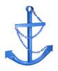 Blue Navy Ships Anchor Metal Wall Decor