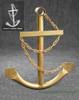 Gold Ships Anchor Metal Nautical Home Decor
