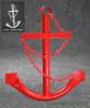 Red Ships Anchor Metal Nautical Home Decor