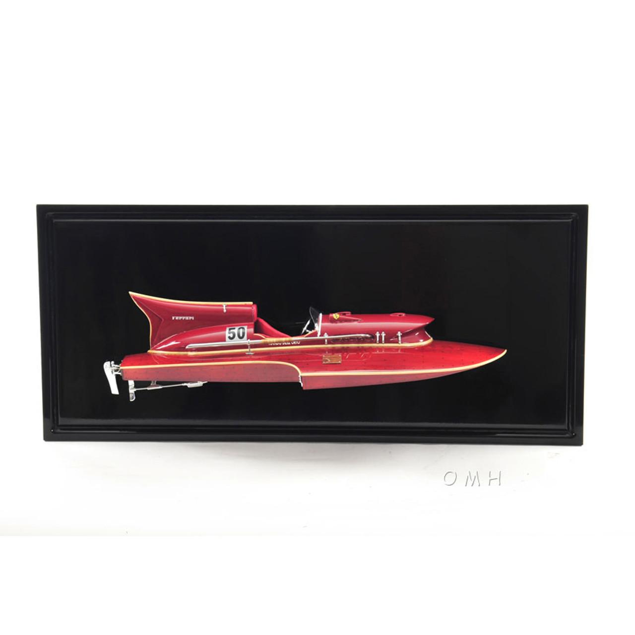 Arno Ferrari Hydroplane Half Hull Model Speed Boat
