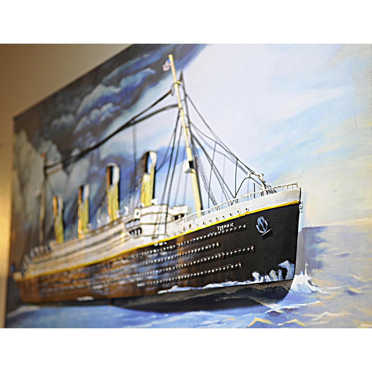 Titanic 3D Metal Model Painting White Star Line
