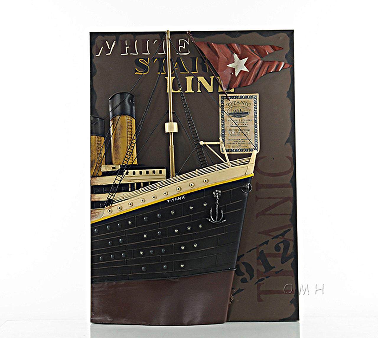 Titanic Ocean Liner Metal Model Painting White Star