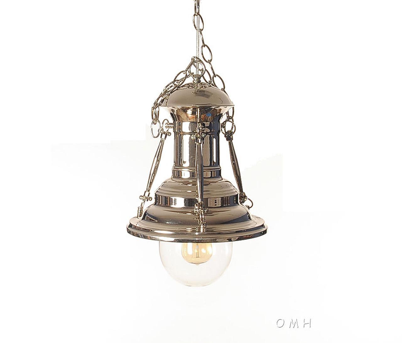 Nautical Chrome Metal Pendant Hanging Lamp Turnbuckle
