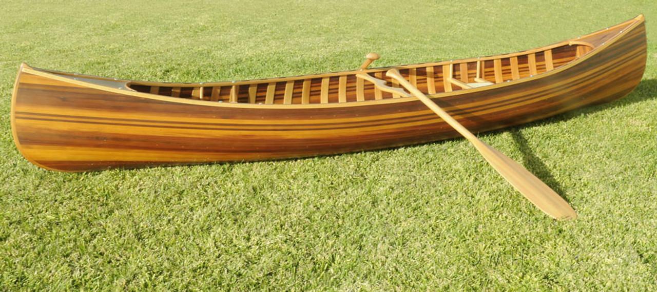 Cedar Strip Built Canoe Boat Matte Finish