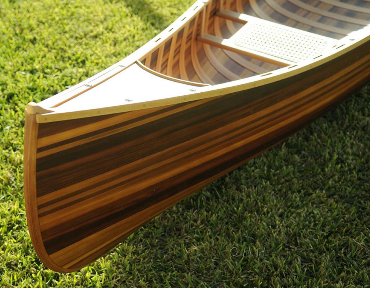 Strip built freighter canoe