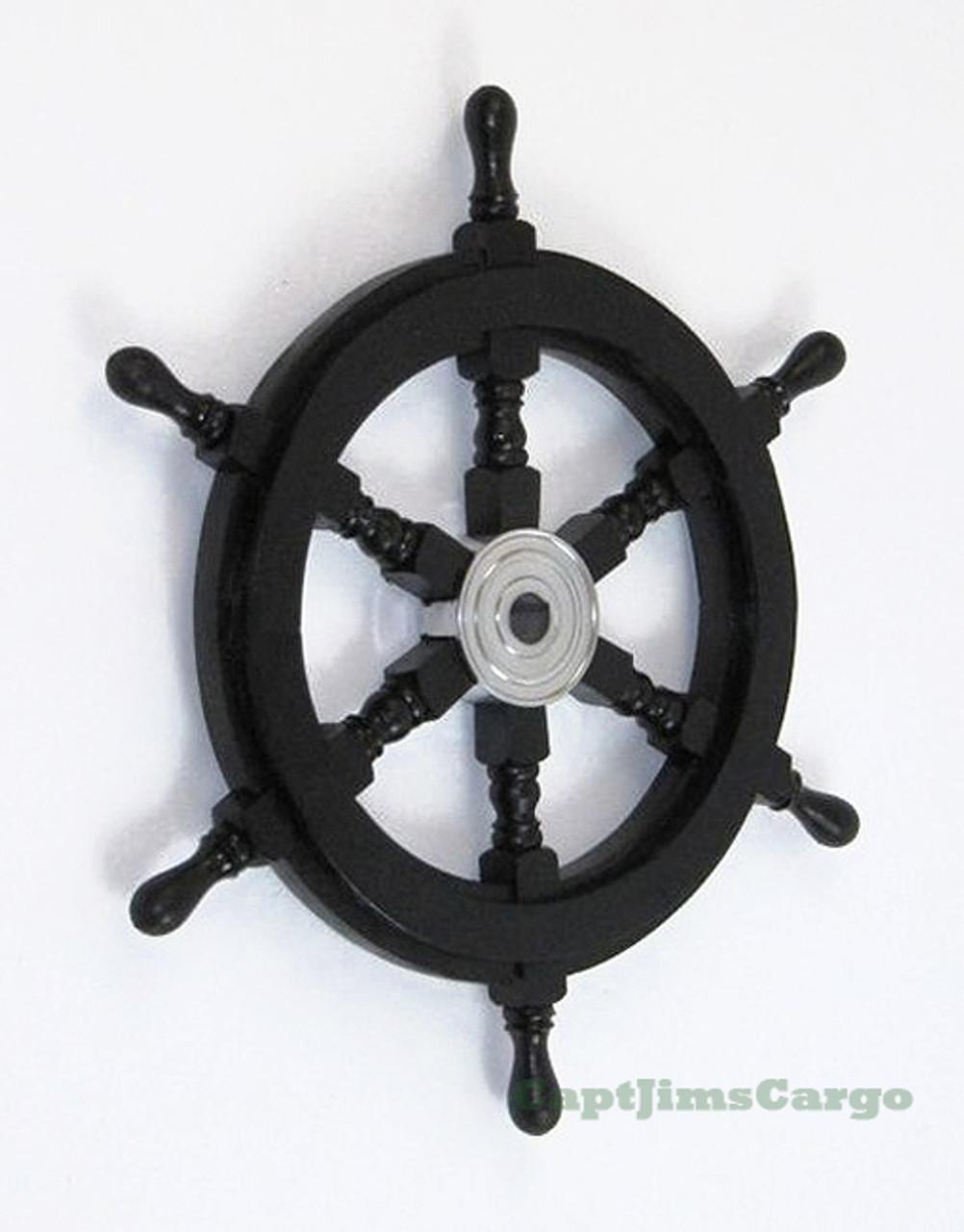 18 Inch Dia Attrezzature Per Timoni Pirate Wheel Marine Steering Wheels Pirate Ships Boat Steering Wheel Ship Wheel Decor Nautical Wheel Steering Wheel On A Boat Attrezzature Per Timoni Timoni