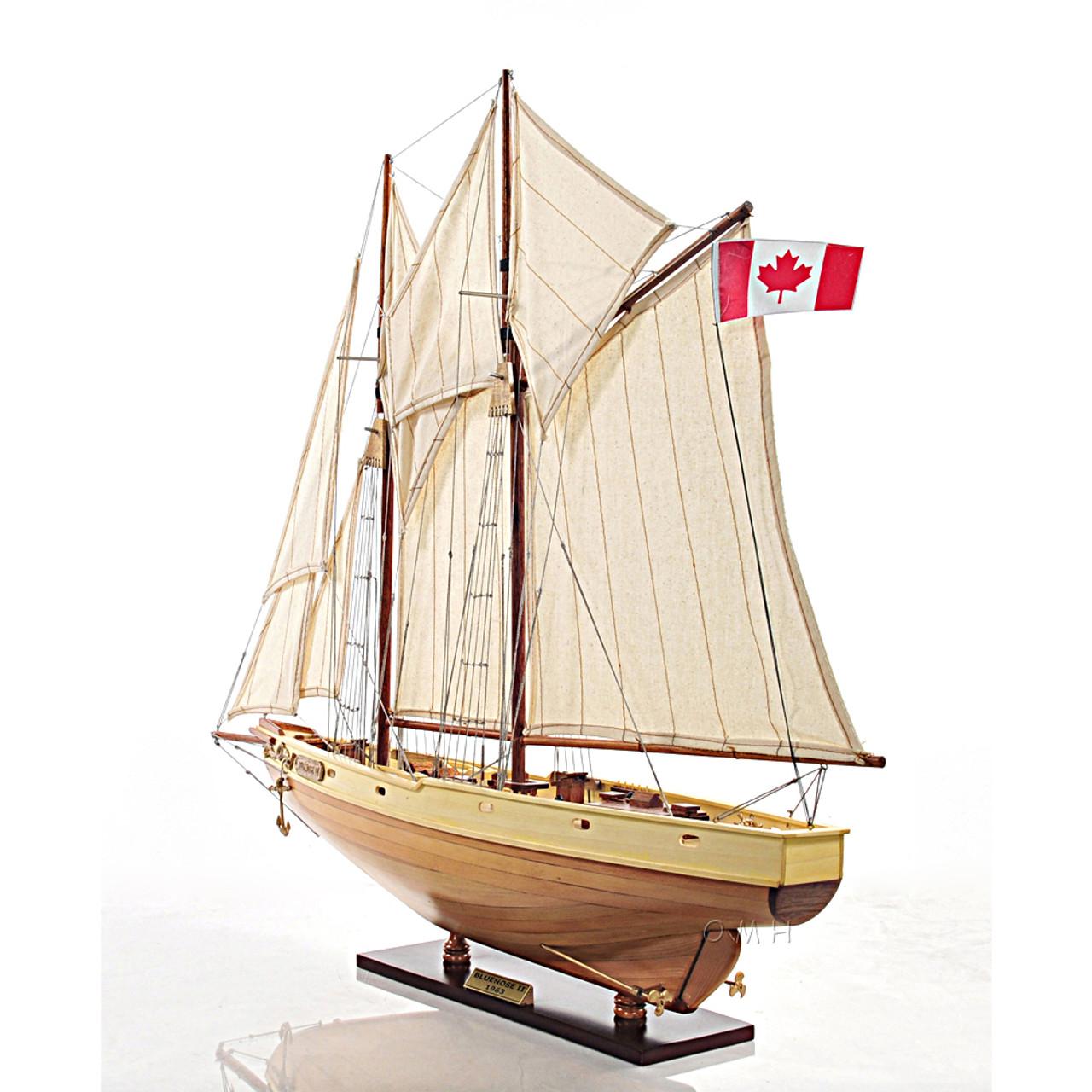 Schooner Bluenose Wooden Ship Model Fully Rigged