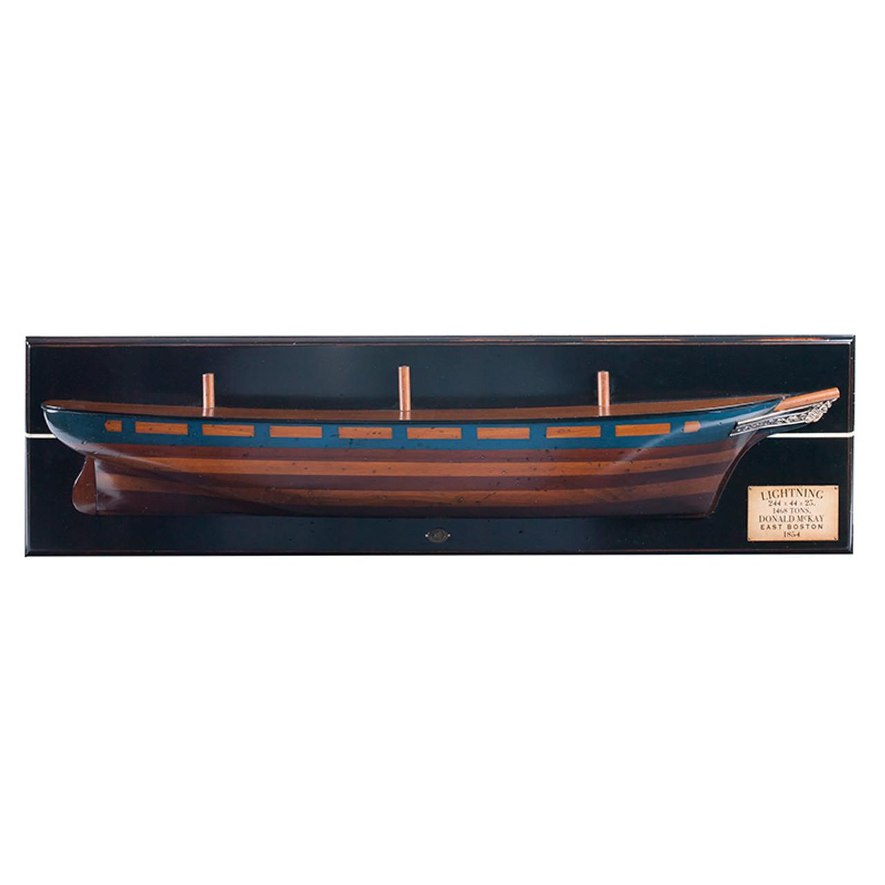 Lightning 1854 Clipper Ship Half Hull Model