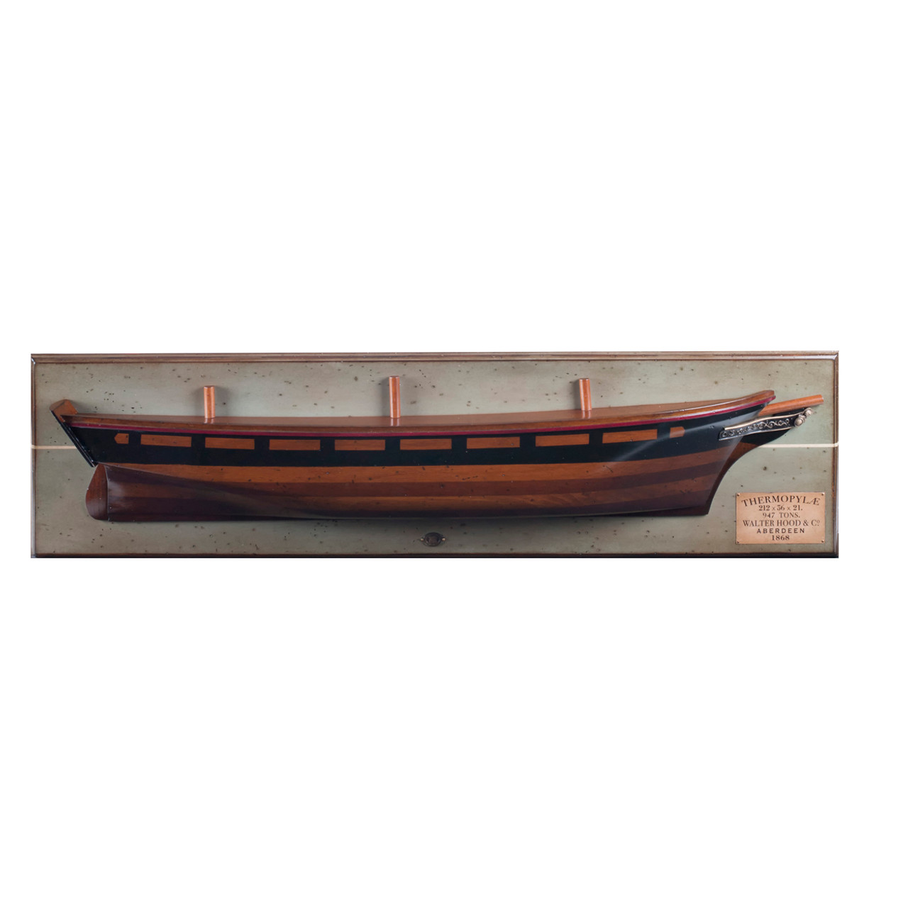 Thermopylae 1868 Clipper Ship Wooden Half Hull Model