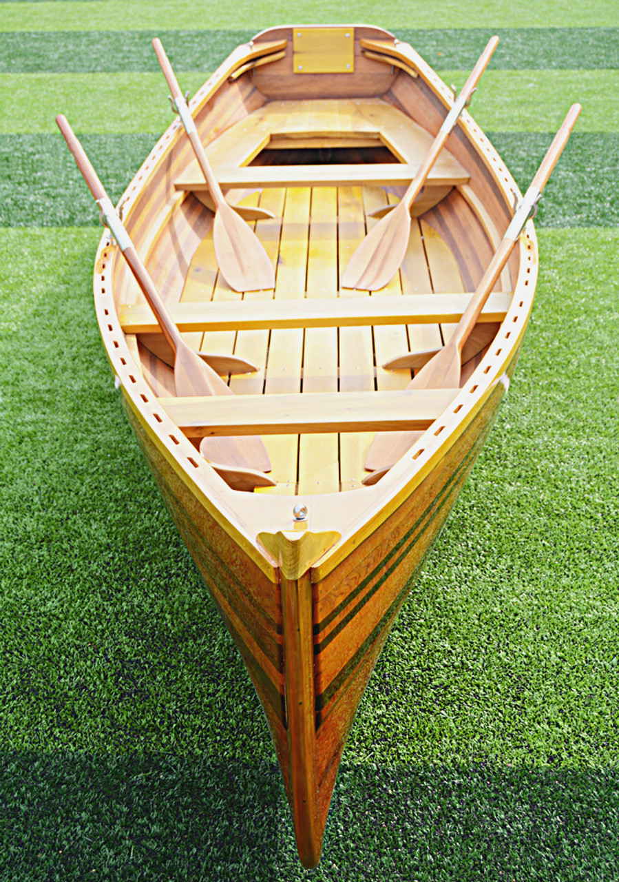 Boston Whitehall Rowboat Wood Strip Pulling Boat
