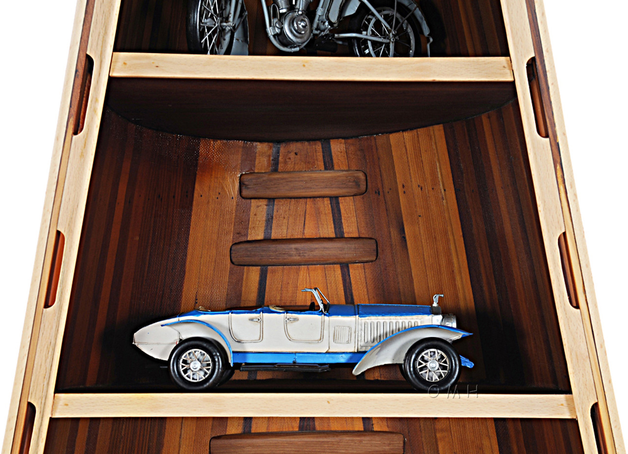 Canoe Bookcase Cedar Strip Built Nautical Decor