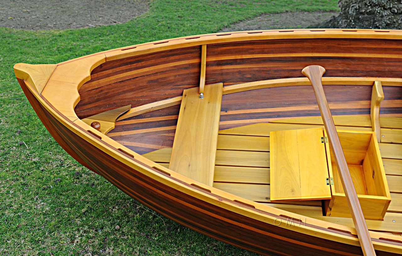 Cedar Dingy Wood Strip Built Boat Tender