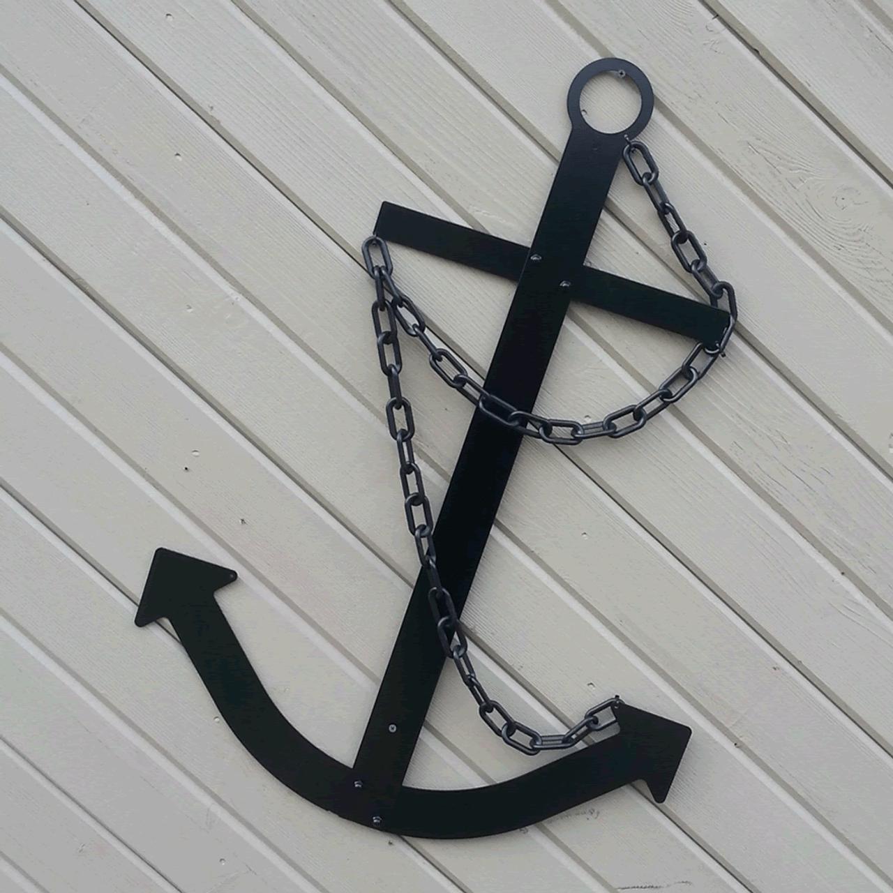 Navy Ships Flat Metal Anchor Nautical Wall Decor