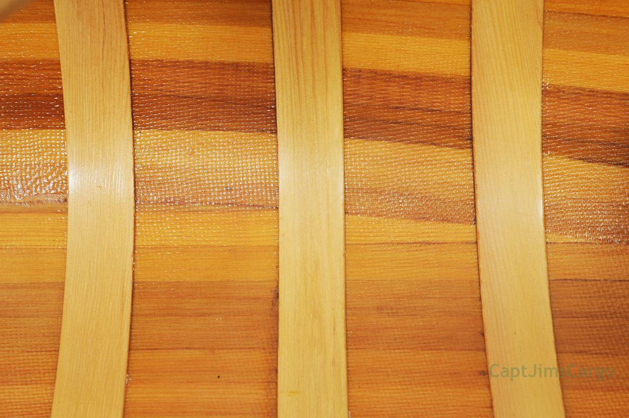 Canoe Coffee Table Glass Top Cedar Wood