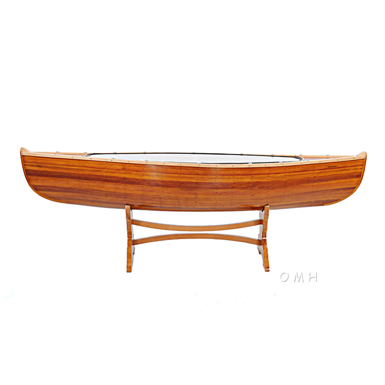 Canoe Coffee Table Cedar Wood Boat Decor