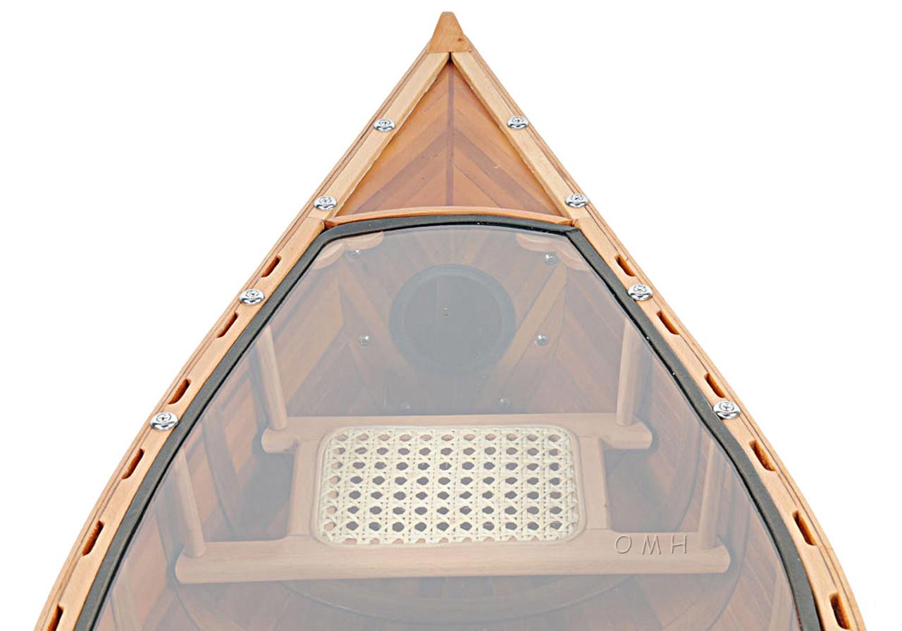 Canoe Coffee Table Glass Top.Canoe Coffee Table Glass Top 59 Cedar Wood Strip Built Boat Decor