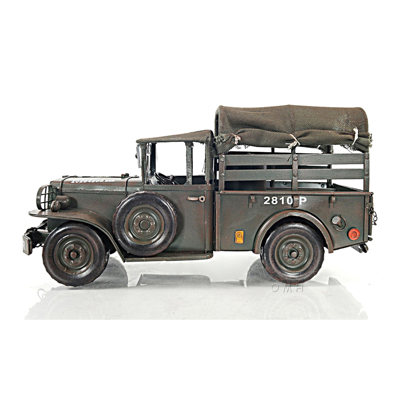 "Dodge M37 Military Command Truck Metal Model 13/"" US Army 1950/'s Korean War Decor"
