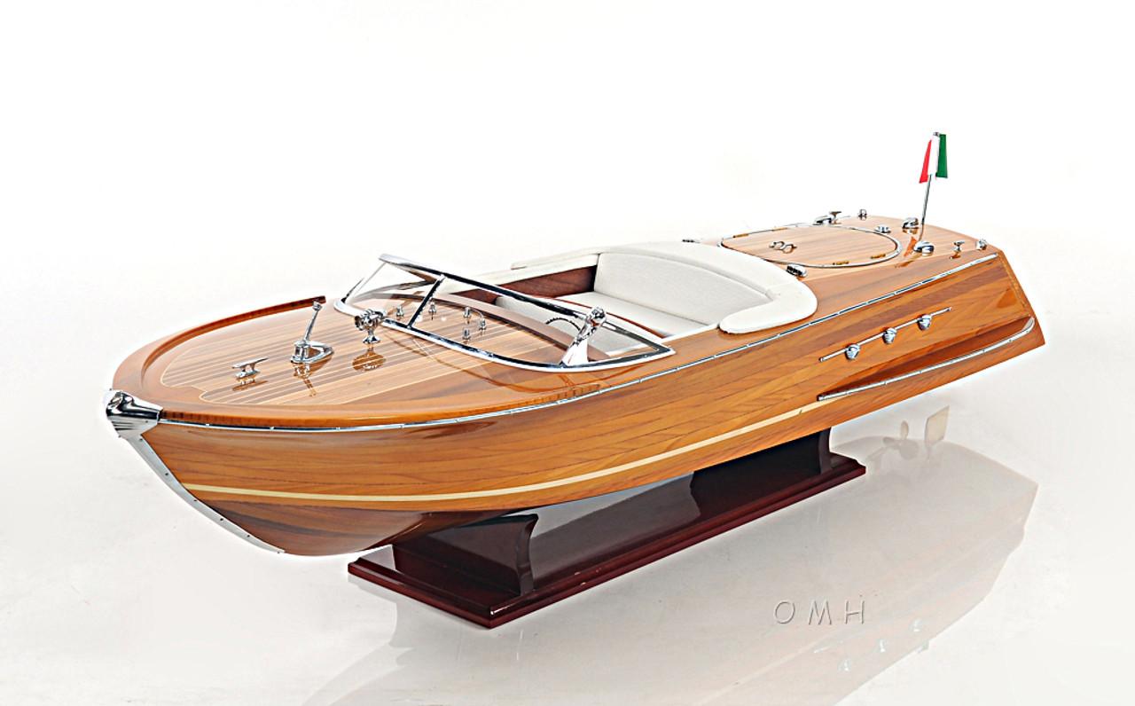Riva Ariston Speed Boat Wooden Scale Model