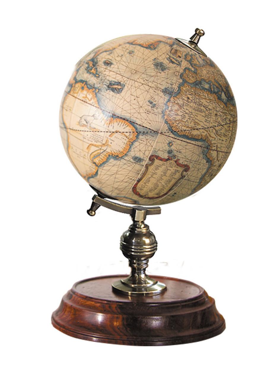 Desktop Globe Mercator 1541 Old World Terrestrial Wood Stand