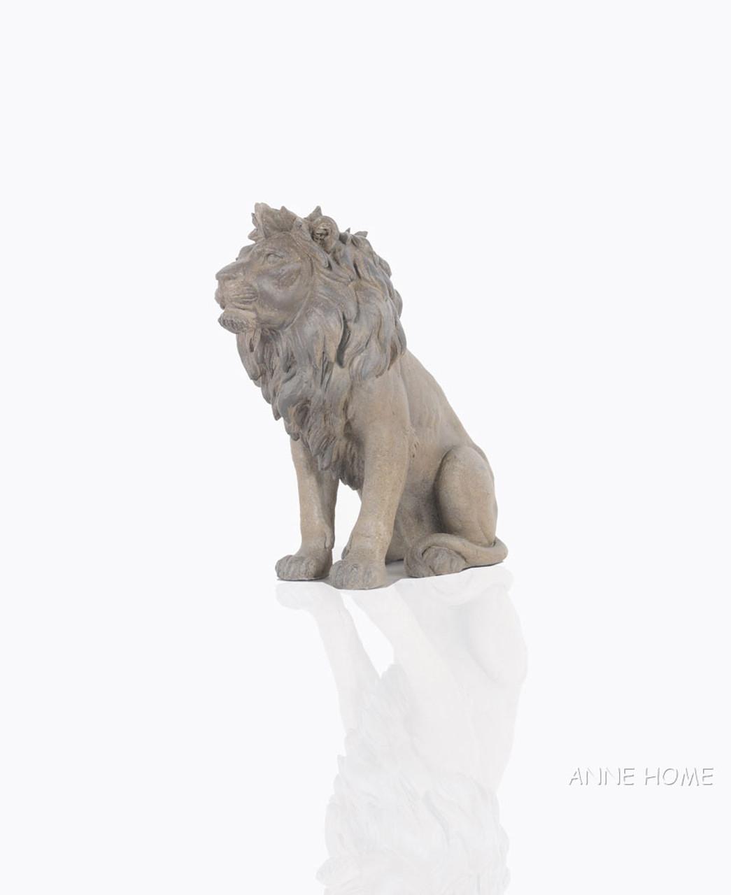 Lion Figurine Sculpture African Safari Home Decor