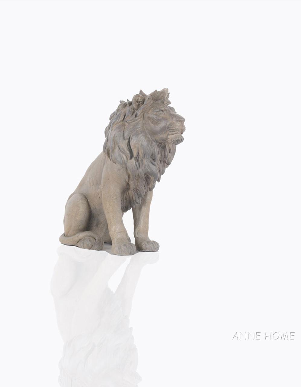 Lion Figurine African Safari Home Floor Decor
