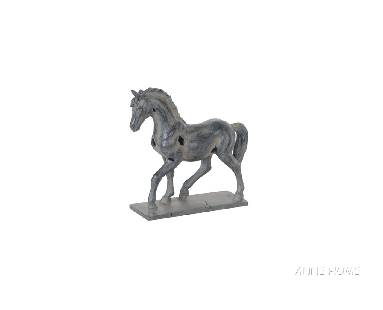 """Rustic Horse Art Figurine Large Statue 16/"""" Tabletop Country Western Home Decor"""