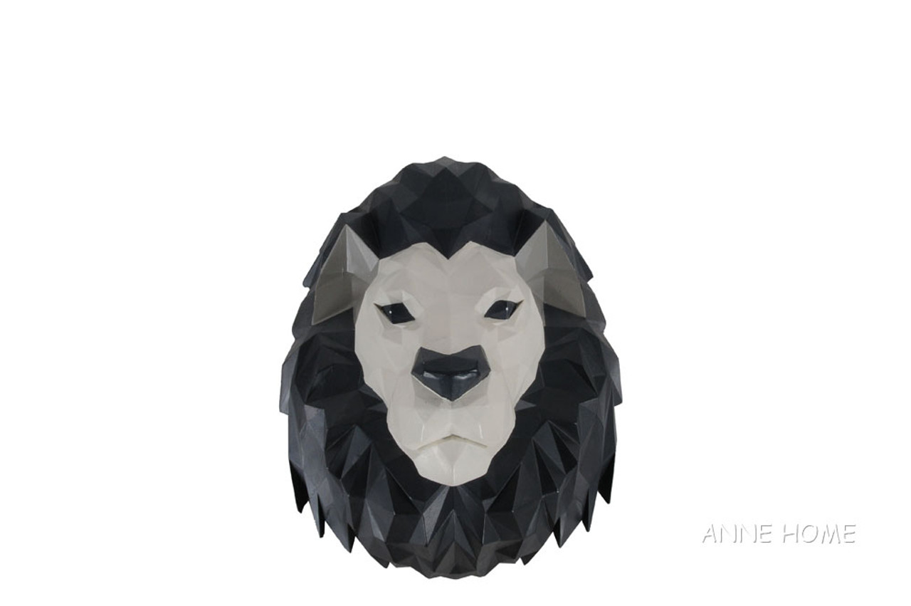 Lion Origami Sculpture African Safari Room Wall Decor