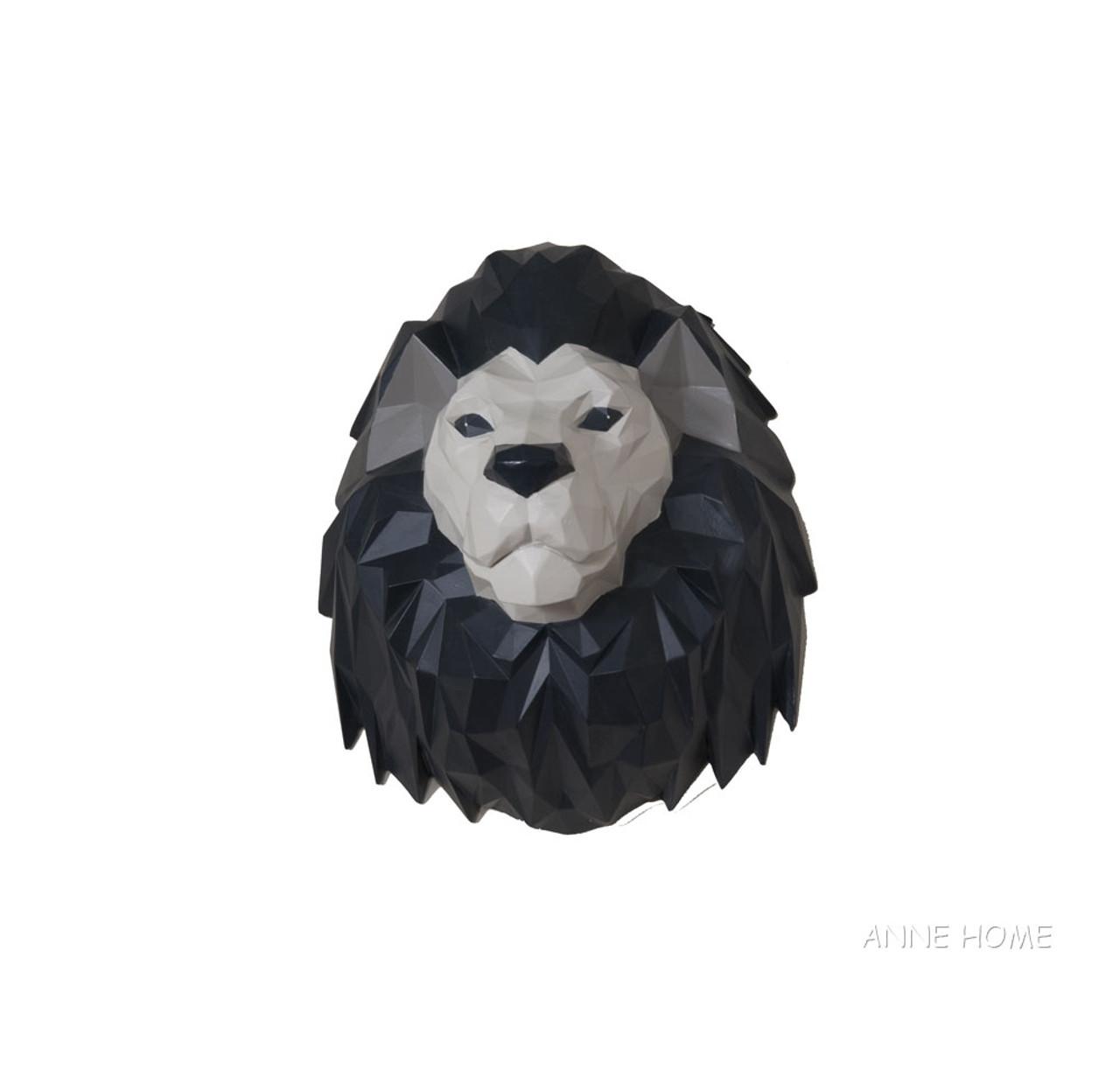 "Lion 3D Origami Figurine Sculpture 14/"" African Safari Living Room Wall Decor New"