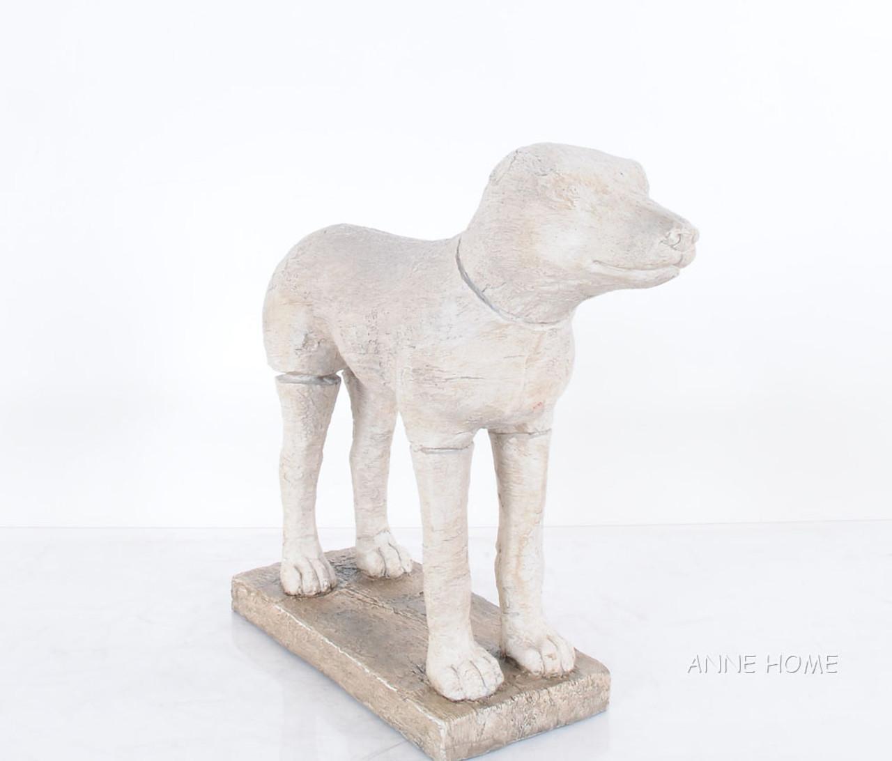 Large Rustic Dog Figurine Statue Sculpture Home Decor