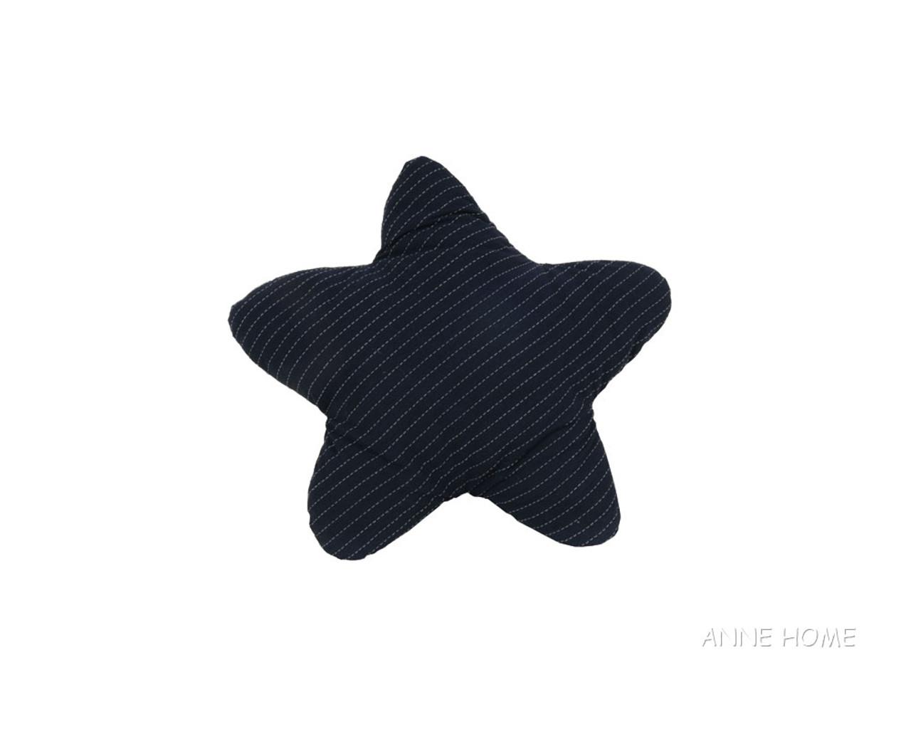 Navy Blue Starfish Shaped Throw Pillows Coastal Decor